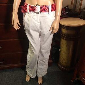 Larry Levine cuffed white pants